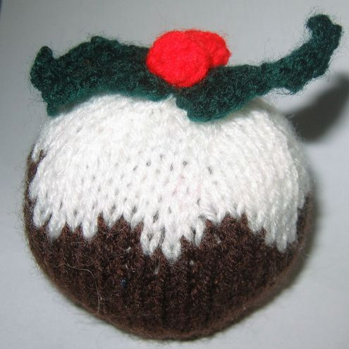 Knitting Pattern For A Christmas Pudding : Christmas Pudding Knitting Pattern - Folksy