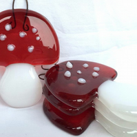 Little Fused Glass Toadstool