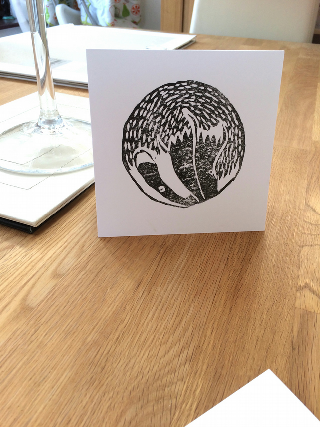Badger Lino Print Card (Any Occassion)
