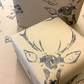 Stunning. Hand Printed. Stag Gift Wrap. Matching Tag. Ideal Xmas!