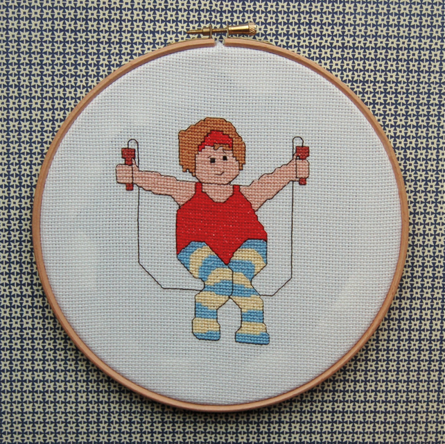 Skip to it cross stitch kit