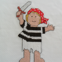 Fancy Dress Pirate Cross Stitch Kit