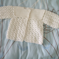 White Crocheted Matinee