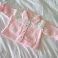 SALE - Pink & White Cardigan