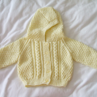 Lemon Hooded Cardigan