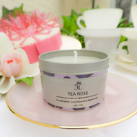 Hand poured Tea Rose Candle