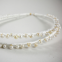 CUSTOM Pearl Double Hairband (Ivory)