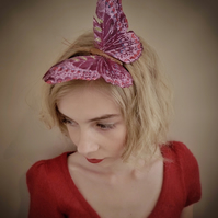 Large Purple Glittery Butterfly Hairband