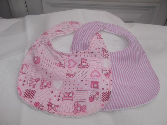 Baby Girls  pink bib sets