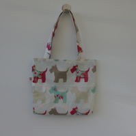 LITTLE GIRLS SCOTTIE DOGS PVC TOTE BAG