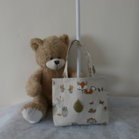 Little Girls Fawn Tote Bag Mr Fox  And His Woodland Friends