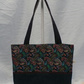 Paisley Cotton Fabric With Denim Handles and Base Shoulder Bag  Tote Bag