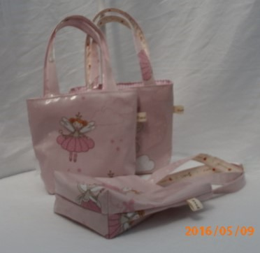 Little Girls PVC Pink Fairy Ballerina Tote Bag