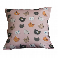 Cat Face Cushion Cover - Pink