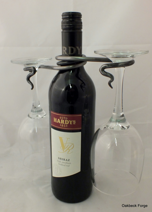 Hand Forged Wine Glass Holder Blacksmith Made Folksy