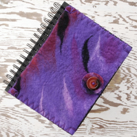 A5 PURPLE FELT SKETCHBOOK