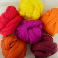 Merino Tops : Hot Reds & Oranges