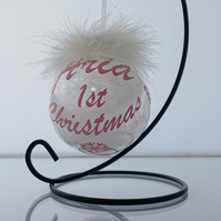 Babies 1st christmas bauble