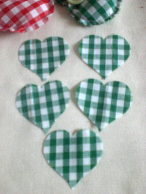 "Heart Appliques, Cut out hearts 2""   10 Hearts 5cm"