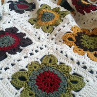 Autumn Hues Crochet Blanket or Throw