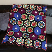 Frida's Flowers Crochet Blanket