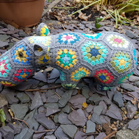 Crochet Hippo stuffed animal toy