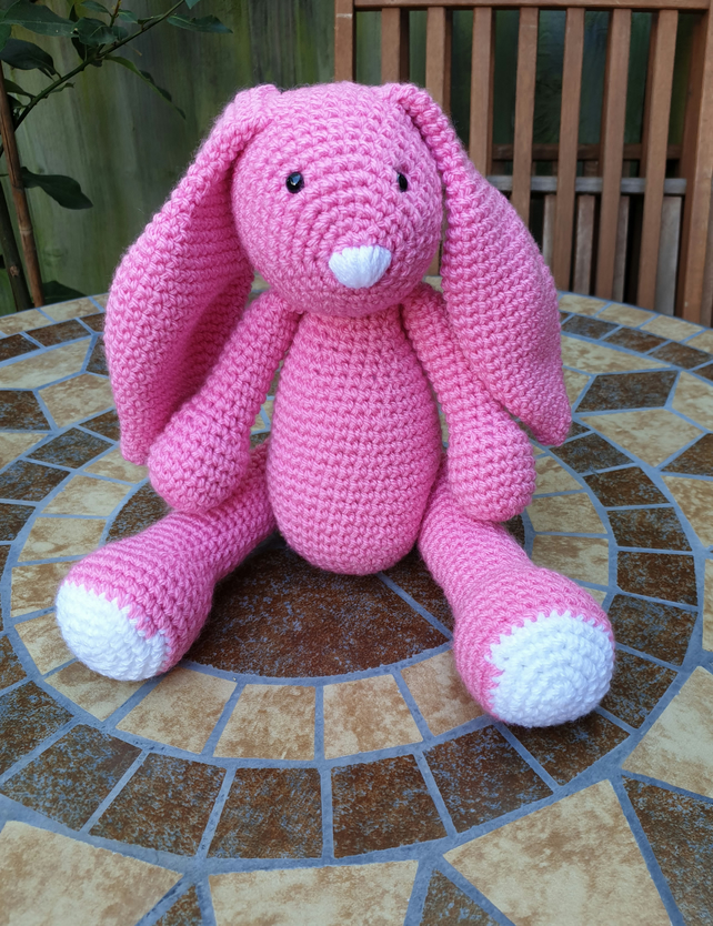 Crochet Pink Bunny Rabbit stuffed toy