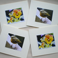 Note cards,Set of notelets,Robin,Thank you,Get Well,Greetings,Gift tag,Pansy,