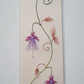 Book mark,Embroidered book mark,Embroidery,Book worms,Hand made,