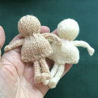 Doll body,Hand knitted doll body,Hand made craft supplies,Miniature dolls