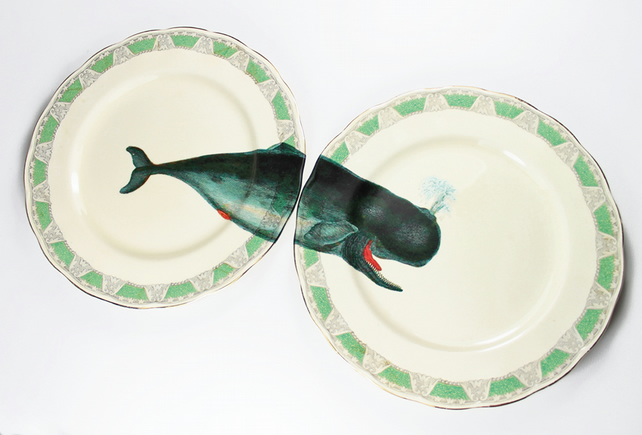 Whale of a Time plates - Yvonne Ellen
