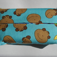 SALE ... Childs Monkey Fabric Pocket Tissue Cover