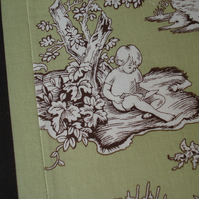 Green/Brown A4 Fabric covered Notebook
