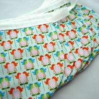 Bunting Scallops in Aqua with little Birds - Perfect for a Nursery