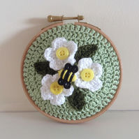 Crochet Pin Cushion in a Hoop