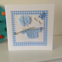 Handmade Card for a New Baby Boy