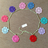 Sale Hand Crochet Flower Garland