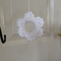 Crochet Snowflake Christmas Tree Decoration