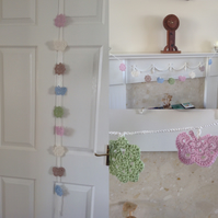 SALE ITEM Crochet Flower and Butterfly Garland