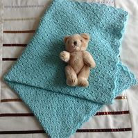 Crochet Baby Blanket in Mint