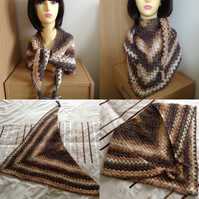 Crochet Triangular Neckerchief Scarf