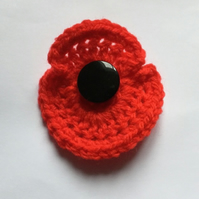 Crochet Remembrance Day Poppy