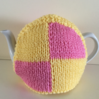 Knitted Battenberg Tea Cosy