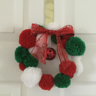 SALE Christmas  Pompom Wreath