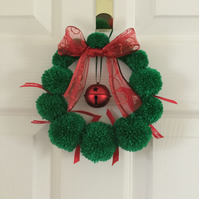 SALE. Christmas Pompom Wreath