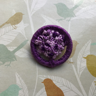 Dorset Button Brooch in Shades of Purple