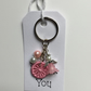 Dorset Button Angel Keyring in Pink