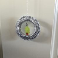 Crochet Christmas Decoration with a Beaded Tree