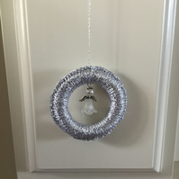 Christmas Tree Decoration with Beaded Angel