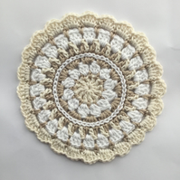 Crochet Mandala Table Mat Doily